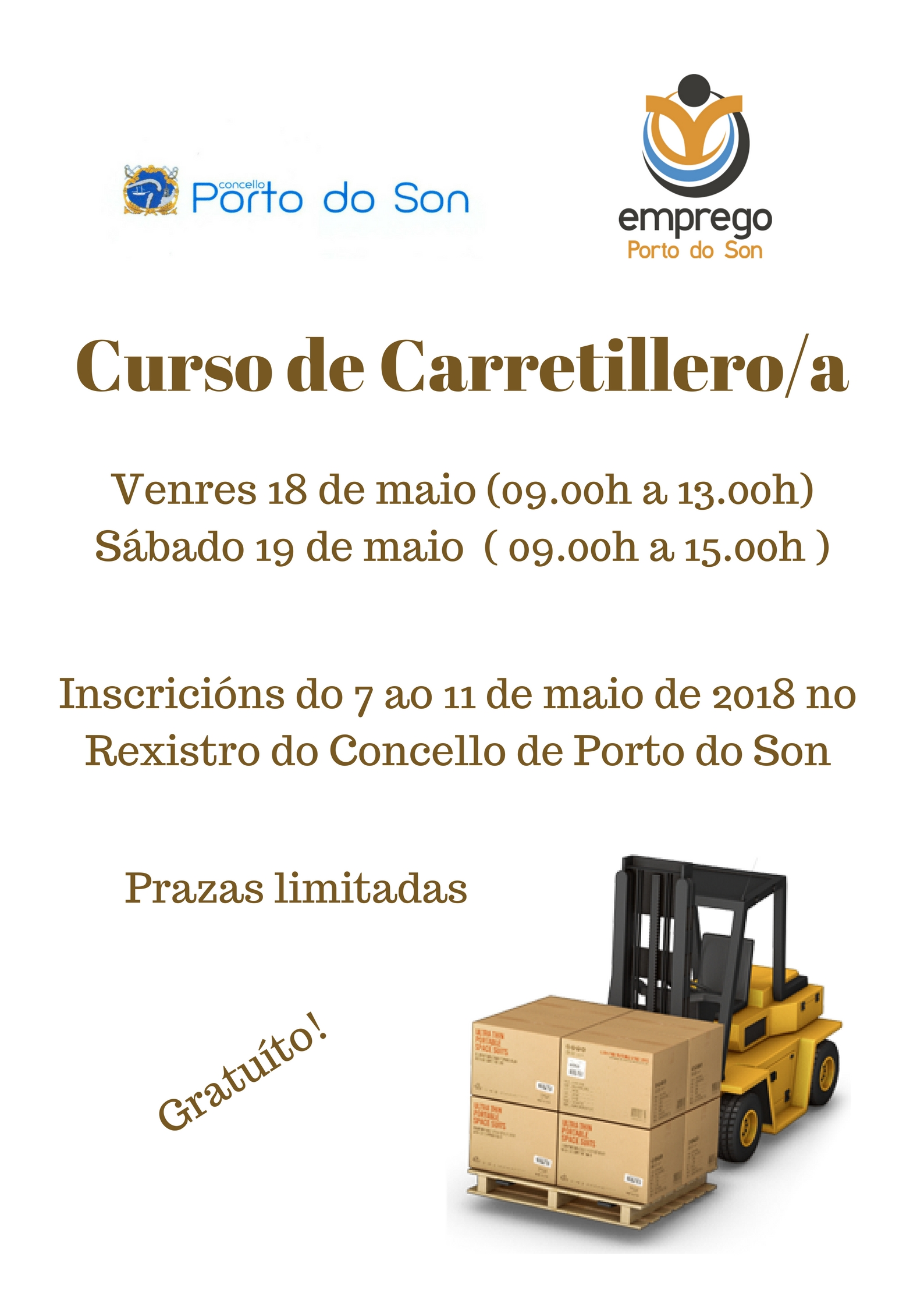 cartel carretillero maio 2018