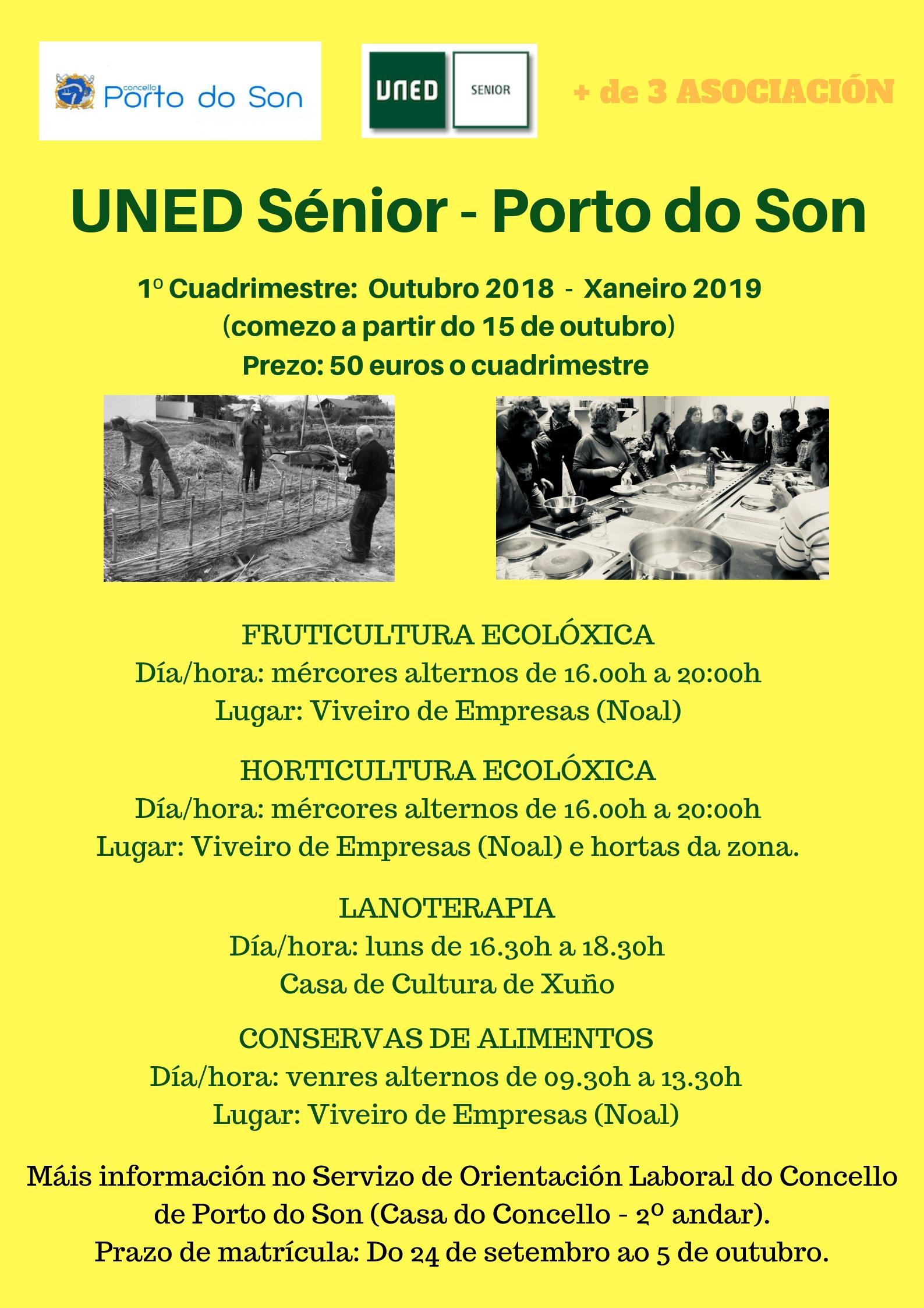 cartel UNED Sénior 1º cuadrimestre 20182019