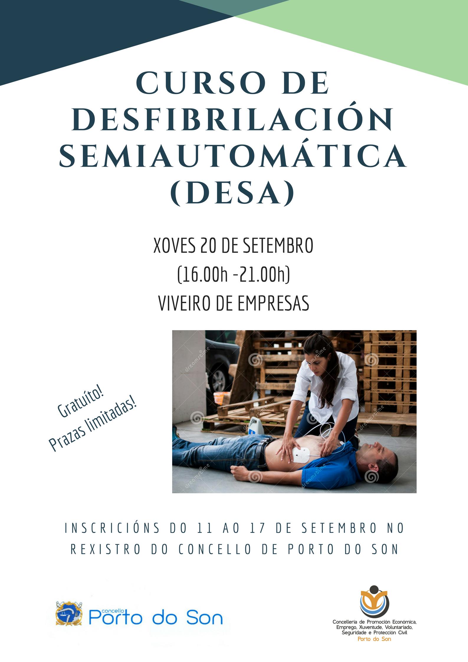 curso dedesfibrilaciónsemiautomática (DESA)