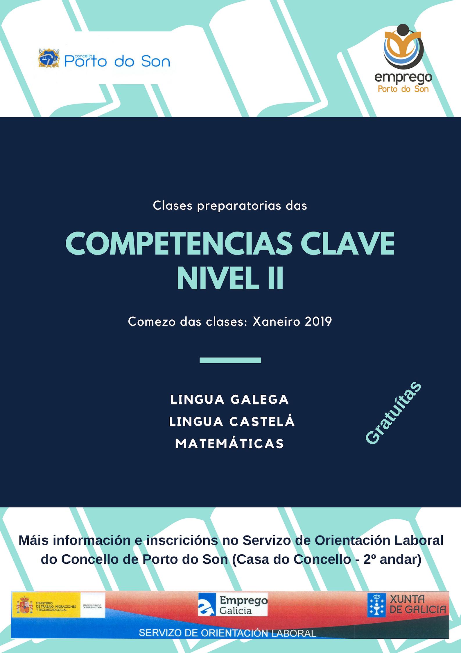 Cartel Competencias Clave (II) Porto do Son 2019