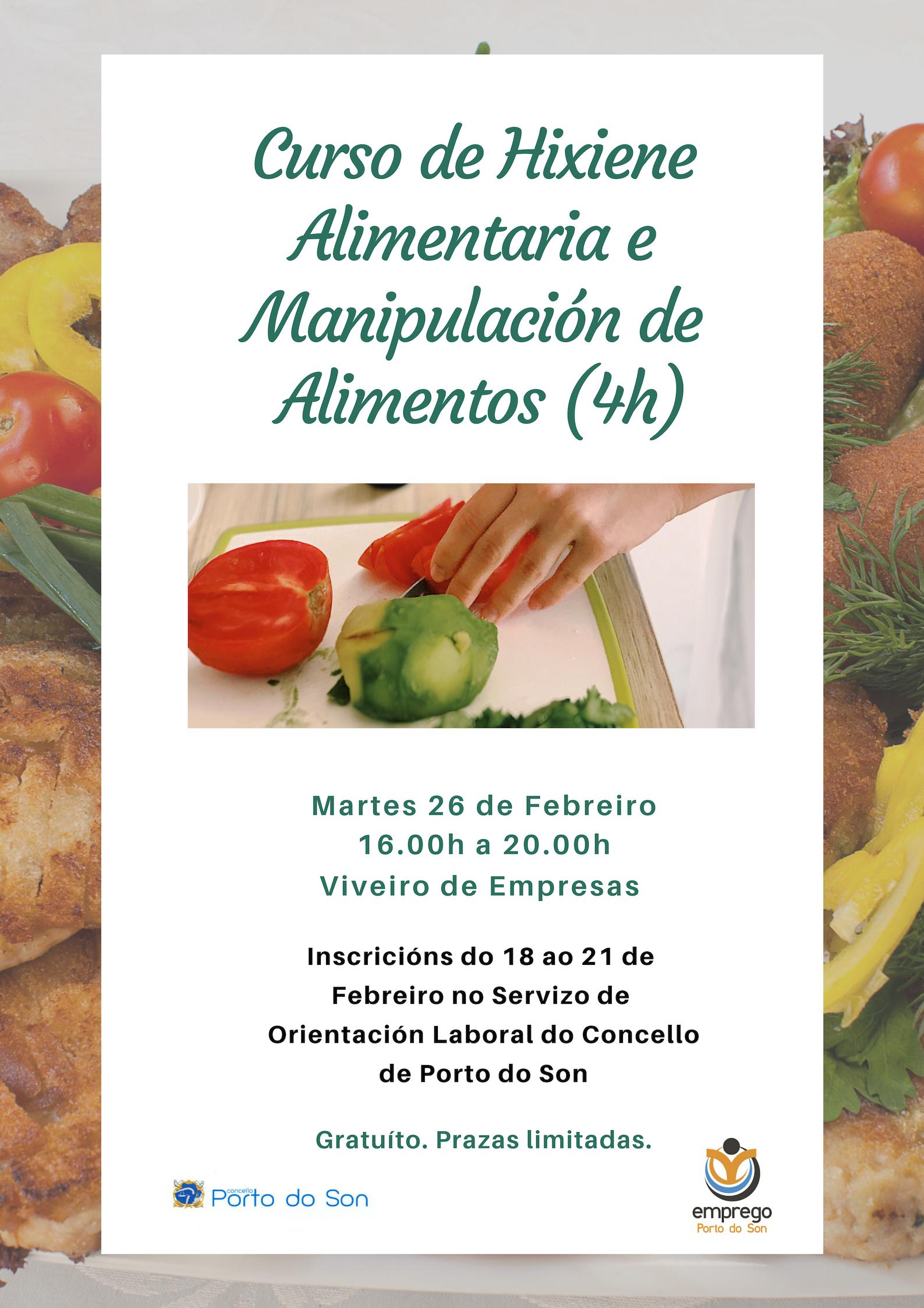 Curso de Hixiene Alimentaria e Manipulación de Alimentos feb 2019