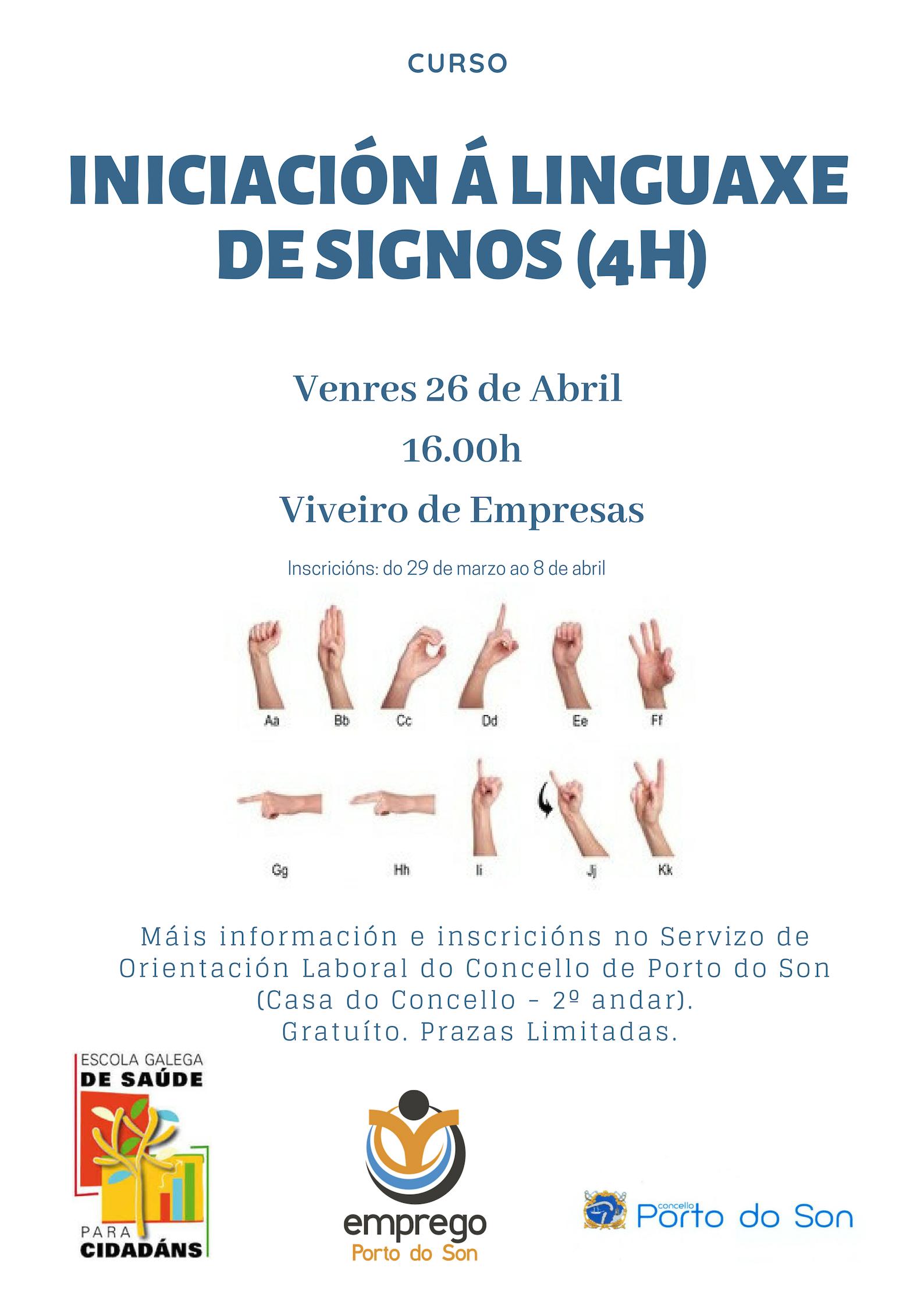 iniciación á linguaxe de signos (4h)