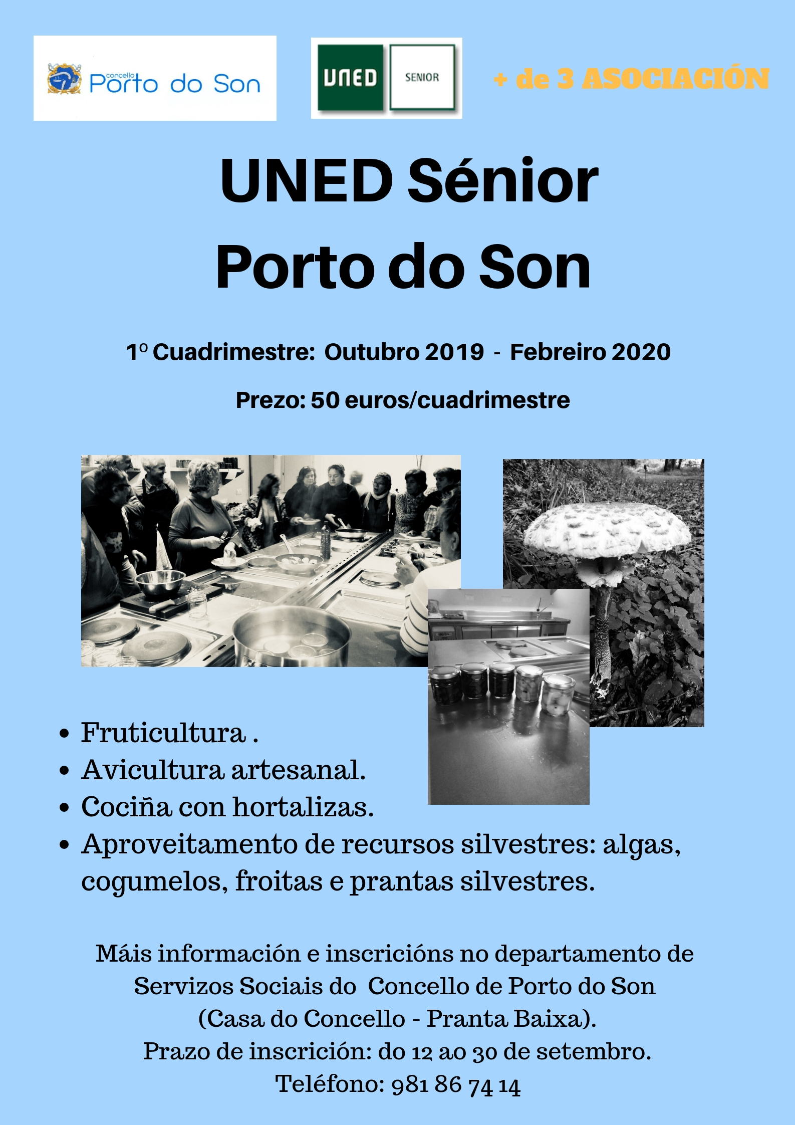 Cartel UNED 2019 Porto do Son