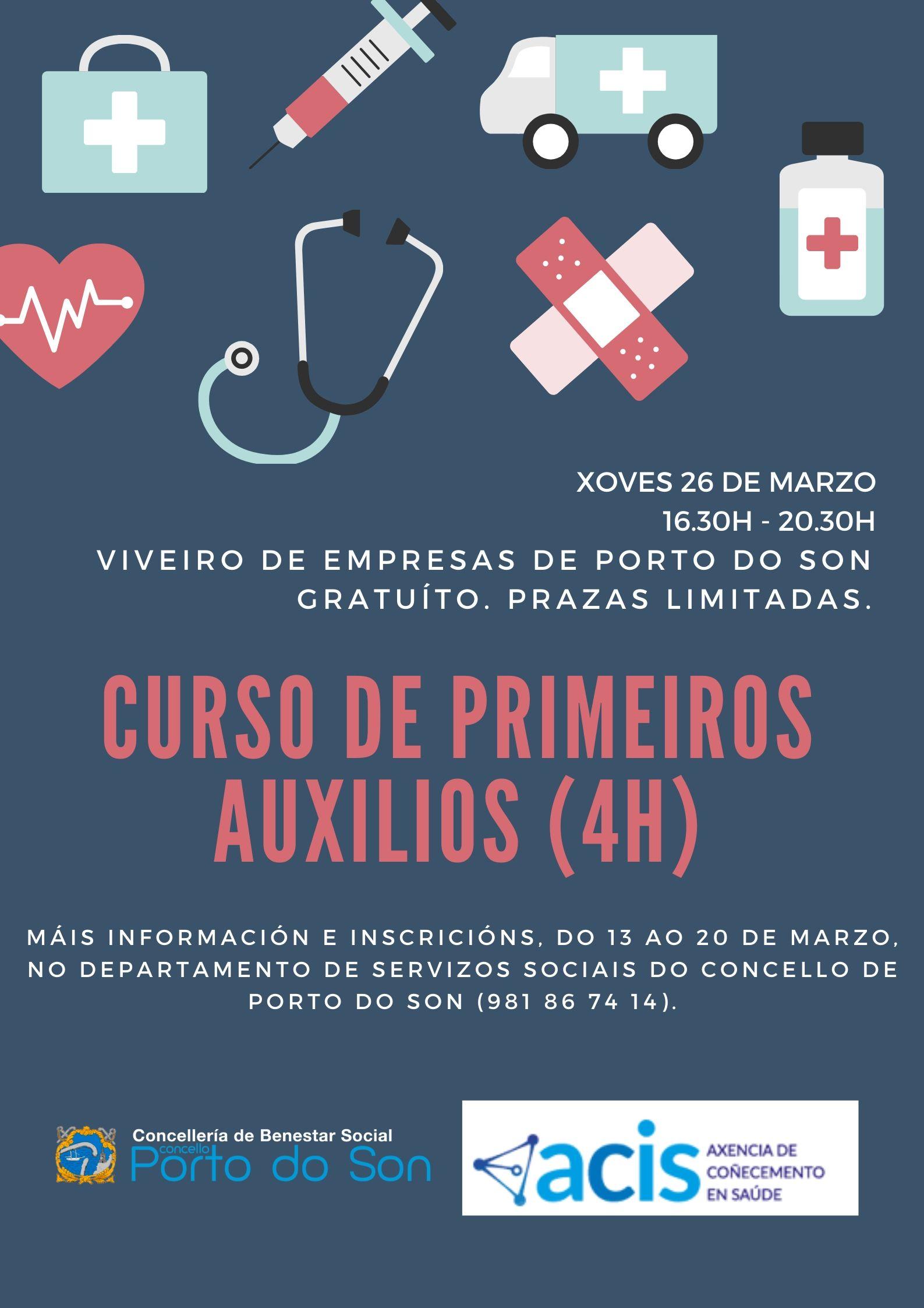 cartel primeiros auxilios marzo 2020