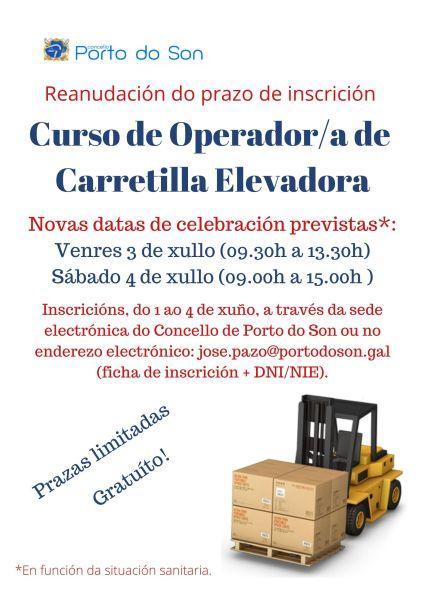 cartel reanudación carretiller@ xullo 2020