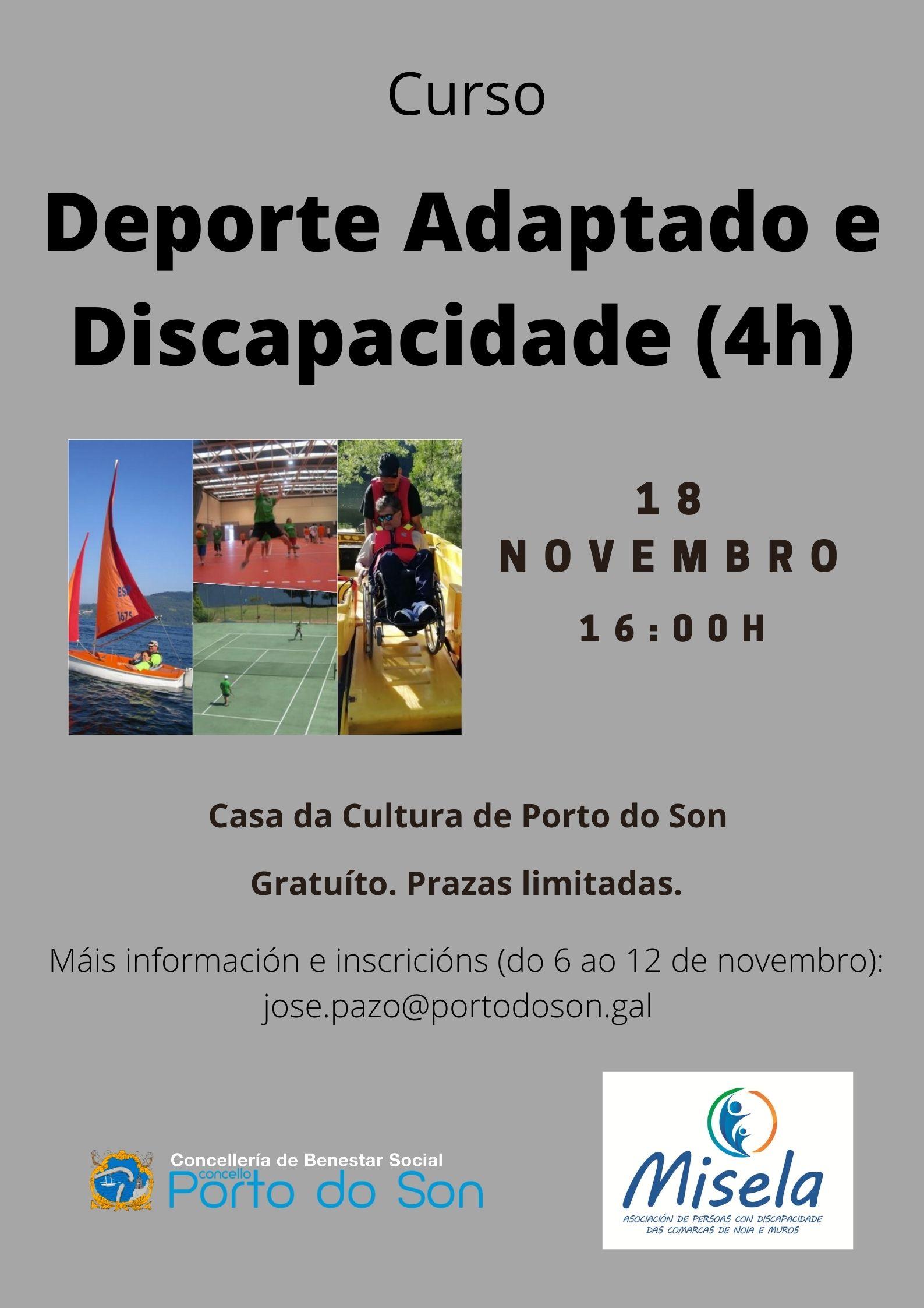 cartel curso deporte adaptado novembro 2020